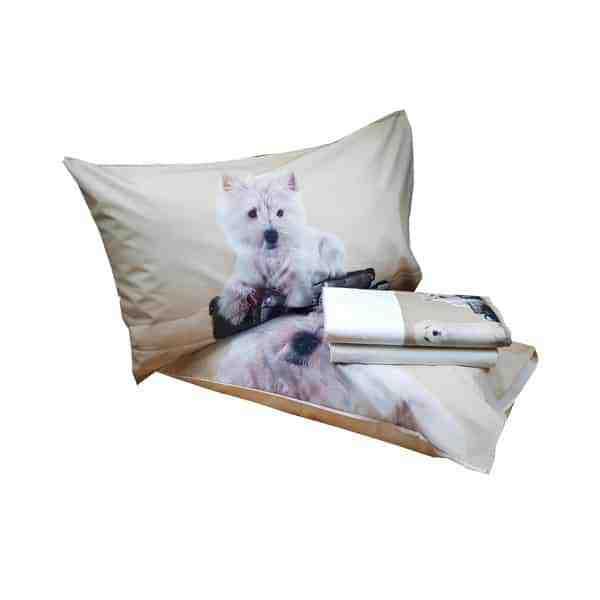 Lenzuola Matrimoniali Con Cani.Completo Lenzuola Dis Cane Bau Negozi Idea Casa